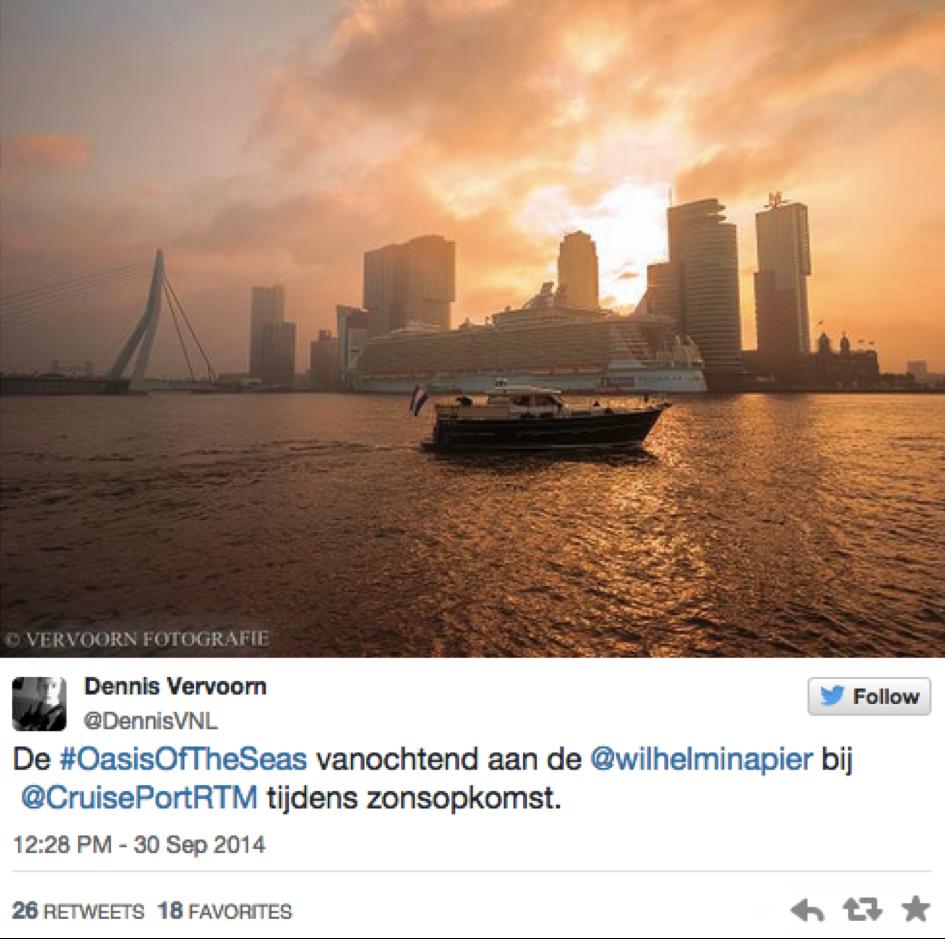 Oasis of the Seas op Twitter